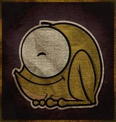 cute cartoon frog character vector image