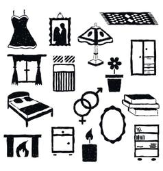 Doodle bedroom images vector