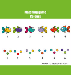educational children game match by color vector image