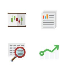 Flat gain set of document scan growth and other vector