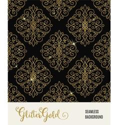 Glitter golden seamless pattern vector image vector image