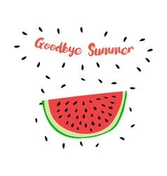 GoodbyeSummer vector image vector image