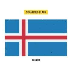 Icelandic grunge flag with little scratches on vector
