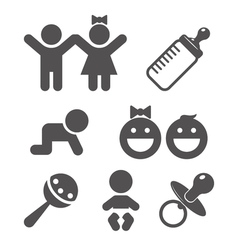 Icon baby set vector