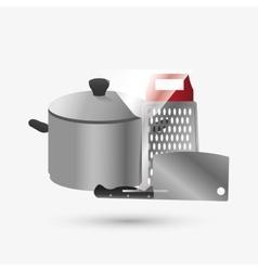 Kitchen design Supplies icon White background vector image