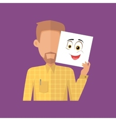 Man character avatar in flat design vector