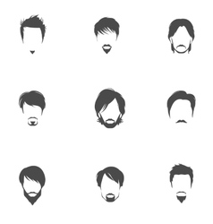 Man hair style set vector image