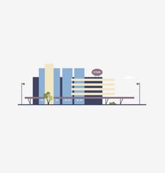 Modern building of megastore or shopping center vector