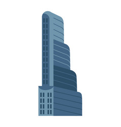 modern multi storey building isolated icon vector image