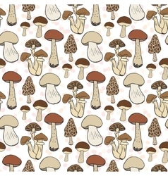 Mushroom seamless pattern autumn vector image vector image