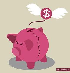 pig bank vector image vector image
