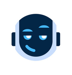 Robot face icon smiling face cunning emotion vector