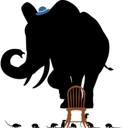 Scared elephant vector