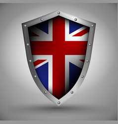 shield with the great britain flag vector image