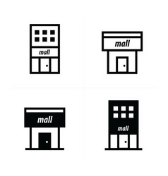 shopping malls icons vector image