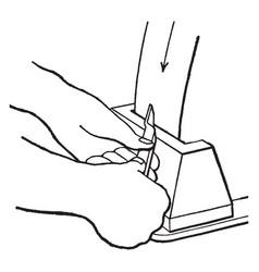 Side tool grinding vintage vector