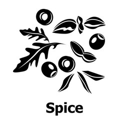 spice icon simple black style vector image