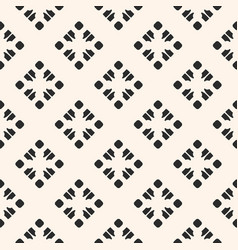 Subtle monochrome geometric seamless pattern vector