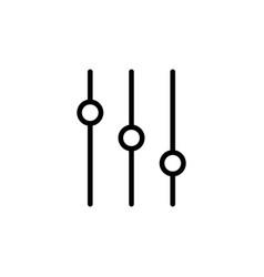thin line slider bar eq icon vector image