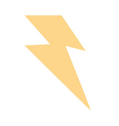 thunder weather flat vector image