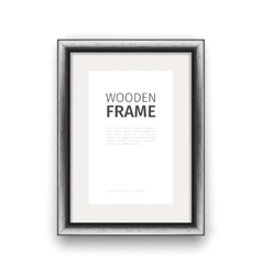 Wooden rectangle frame dark vector