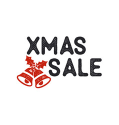 xmas christmas sale lettering and typography vector image vector image
