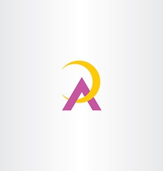 yellow purple a letter logotype logo symbol a icon vector image vector image