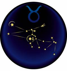 Zodiac Taurus sign vector image vector image