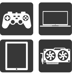 Flat icons technology vector