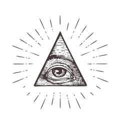 All seeing eye symbol vector