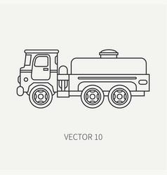 Line flat plain icon service staff vector