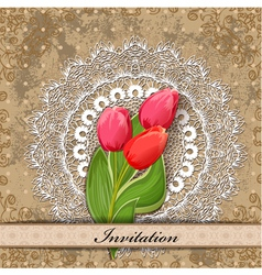 Invitation tulip vector