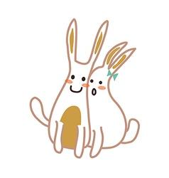 Icon rabbit vector