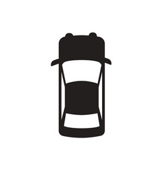Black icon on white background car vector