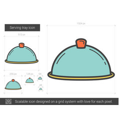 Serving tray line icon vector