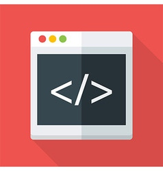 Website coding flat stylized vector