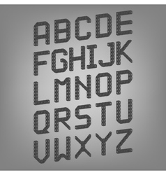 Pixel font isolated set set of vector