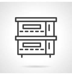 Restaurant stove simple line icon vector