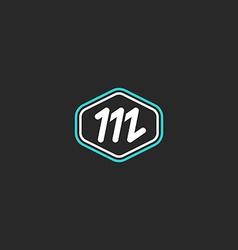 M logo letter monogram mockup design element thin vector