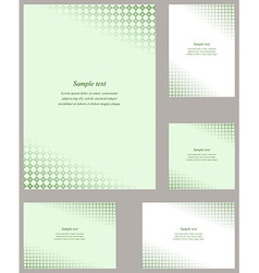 Green page corner design template vector
