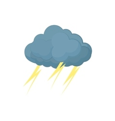 Cloud with lightnings icon cartoon style vector