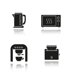 Kitchen appliances icons vector