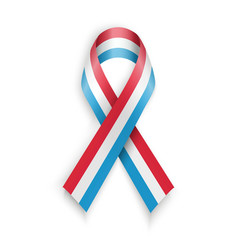 Abstract blue white red ribbon flag vector image