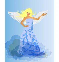 angel and devil retro woman vector image vector image