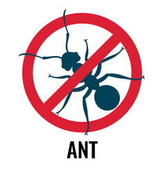 anti-ant emblem with bug placed in circle vector image vector image