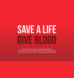 Background of world blood donor day style vector