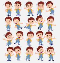 cartoon character white boy in jeans set with vector image vector image