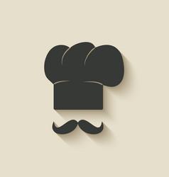Chef cap icon vector