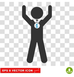 Child champion eps icon vector