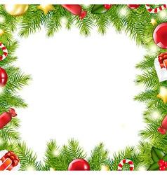 Christmas tree border vector